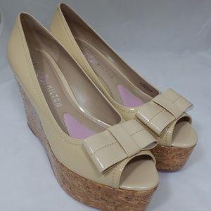 Paris Hilton Amalia wedge women shoes sz 8.5M